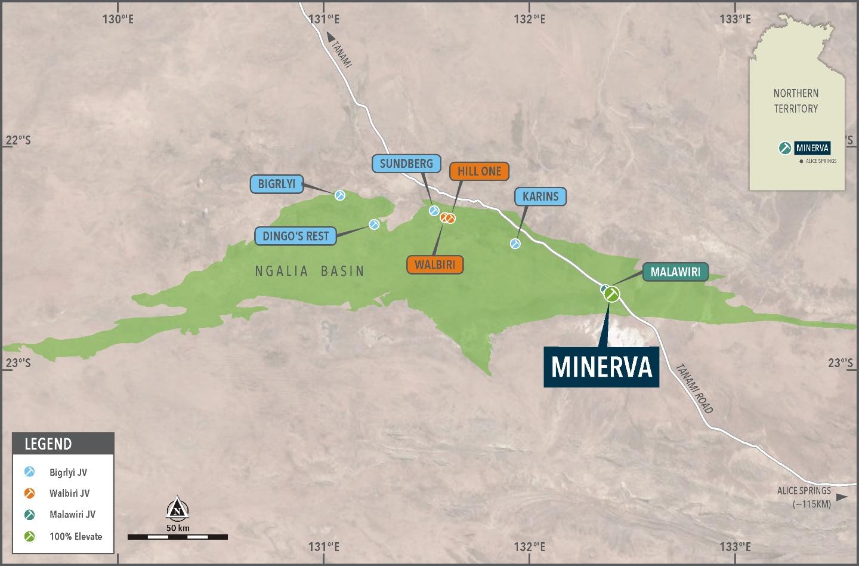 Figure 1 – Minerva deposit geological setting