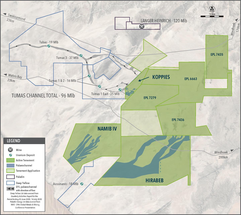 Figure 2 – Location of Namib IV in the Namib Area, Namibia