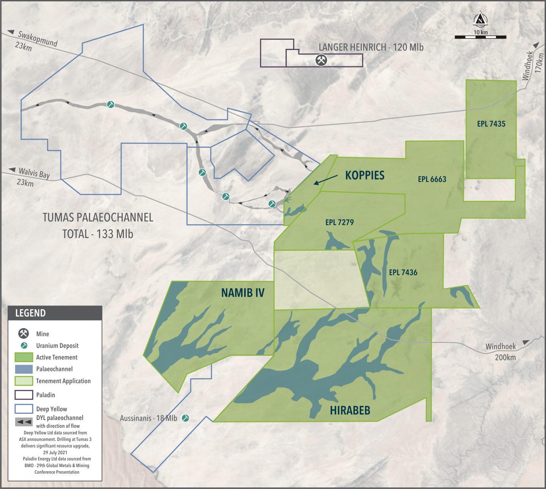 Figure 1 – Location of Namib IV in the Namib Area, Namibia